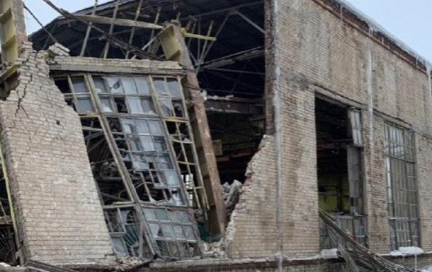 На заводе в  ДНР  рухнули стены