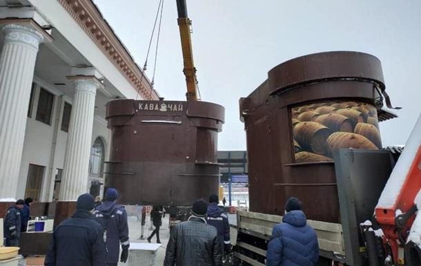 На вокзале в Киеве снесли МАФы