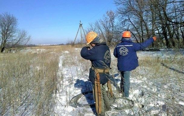На Луганщині дев ять населених пунктів залишилися без світла