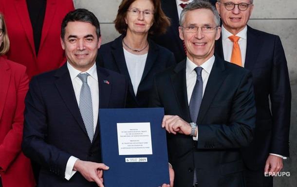 Македонія підписала з НАТО протокол про вступ до альянсу