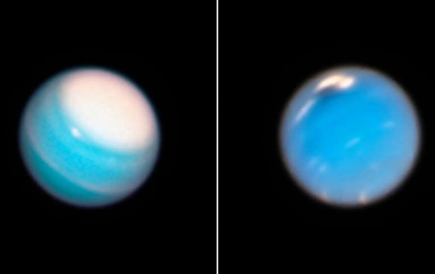 Hubble снял загадочное пятно на Нептуне