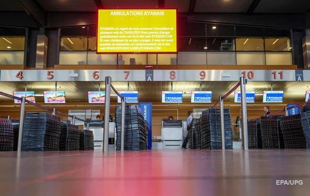 ВБельгии отменено около 600 авиарейсов из-за забастовки