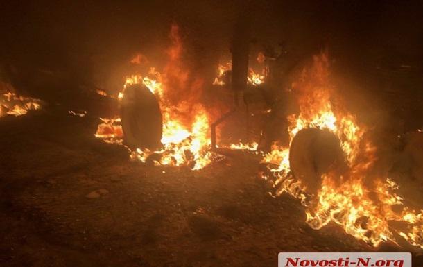 Под Николаевым вооруженные люди напали на сельхозпредприятие