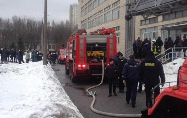 Пожар в университете НАУ в Киеве сегодня 15 февраля