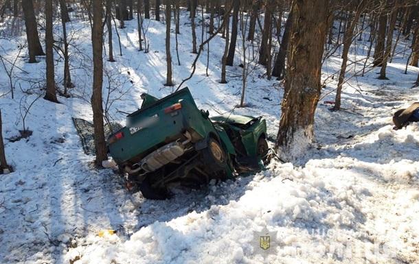 В Киевской области автомобиль врезался в дерево, есть жертвы
