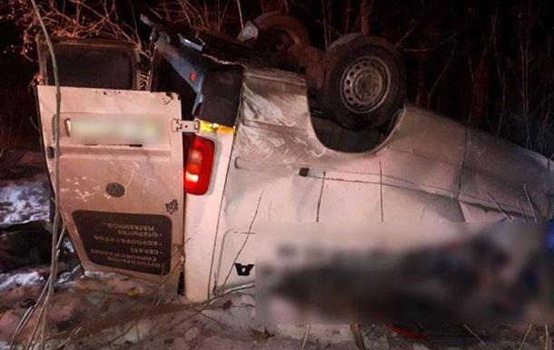 На Полтавщине разбился микроавтобус: четыре жертвы