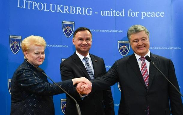 Грибаускайте, Дуда і Порошенко обговорили санкції