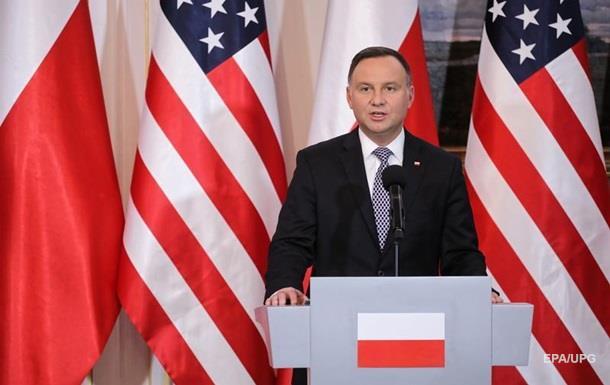 Дуда: Польща готова прийняти більше військових США