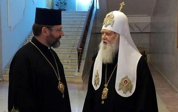 УГКЦ хочет отслужить литургию в Софие Киевской. Филарет против