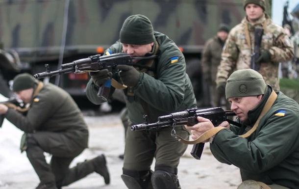 Штаб Нацгвардії провів навчання на Донбасі