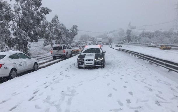 На Мексику обрушился снегопад
