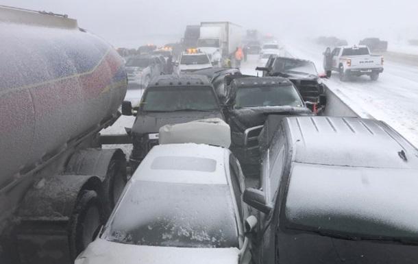 На трассе в Канаде столкнулись почти 100 машин