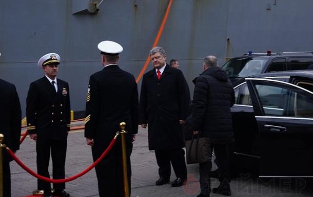 Петр Порошенко приехал к Волкеру на морвокзал Одессы