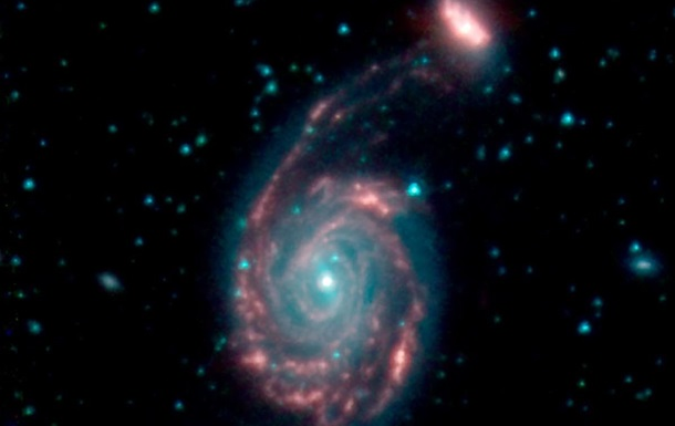 The telescope captures the fusion of the evil galaxy