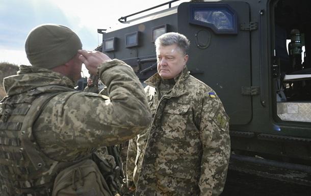 Порошенко повысил доплаты военным на передовой