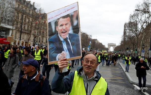 Желтые жилеты  проводят шесть акций в Париже