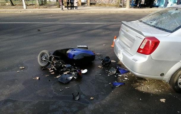 В Николаеве военный попал в аварию