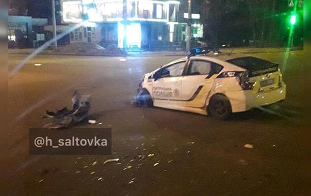 В Харькове столкнулись Lexus и авто патрульных