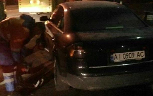 В Киеве за рулем авто заметили пьяного майора полиции