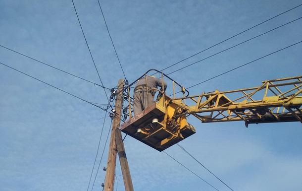 В Марьинке спустя две недели восстановили электроснабжение