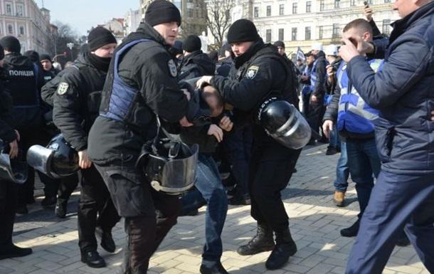 Радикали влаштували бійку на Марші жінок у Києві