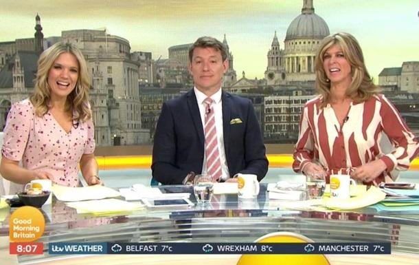 Телеведущую высмеяли за странный принт на платье