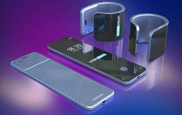 Samsung розробляє гнучкий смартфон-браслет