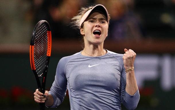 Свитолина вышла в полуфинал турнира в Индиан-Уэллсе