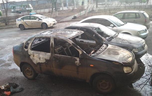 У Харківській області за добу спалили чотири машини