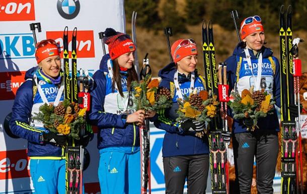 Естерсунд: Україна завоювала бронзу в жіночій естафеті
