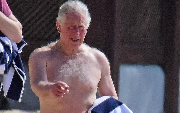 Принц Чарльз порезвился на пляже Барбадоса
