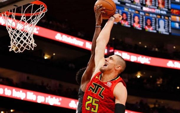 Украинцы в НБА: Лень помог Атланте одолеть Юту, набрав 12 очков