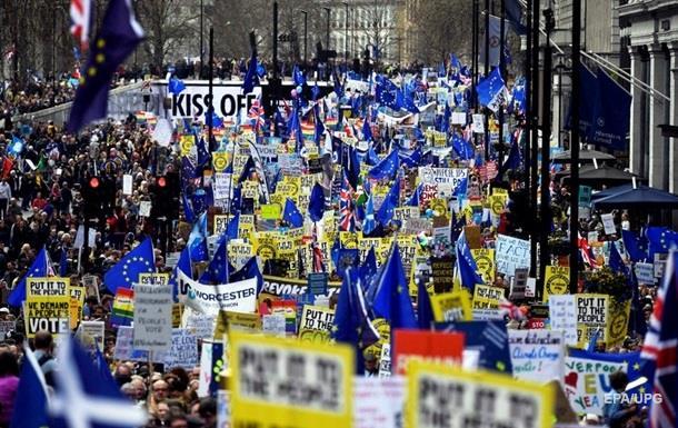Марш проти Brexit: організатори заявляють про мільйон учасників