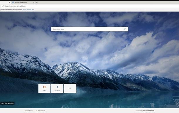 Microsoft відкрила доступ до тестової версії браузера Edge