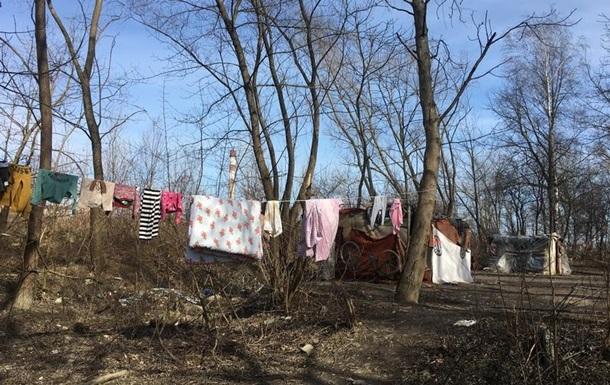 В Ивано-Франковске подожгли лагерь ромов