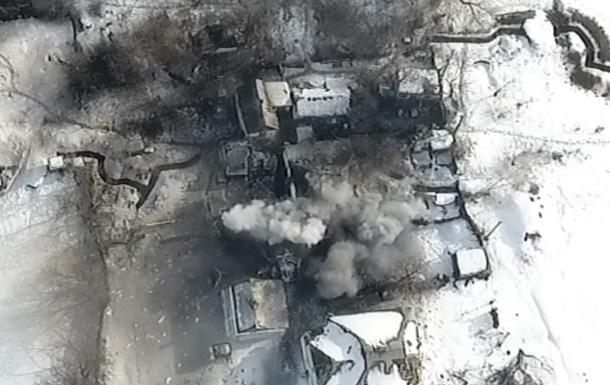 Уничтожение командного пункта сепаратистов попало на видео