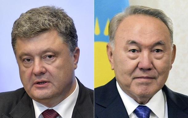 Порошенко зідзвонився з Назарбаєвим через тиждень після відставки