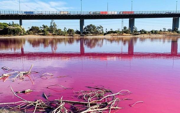 В Мельбурне озеро окрасилось в розовый цвет