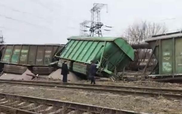 В Киеве на Выдубичах на железной дороге произошла авария