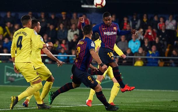Барселона вырвала ничью у Вильярреала