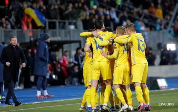 Украина поднялась на 27 место в рейтинге ФИФА
