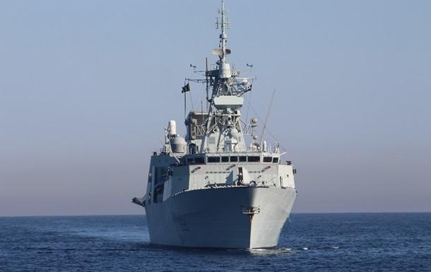 Ракетний катер ВМС ЗСУ провів тренування з канадським фрегатом