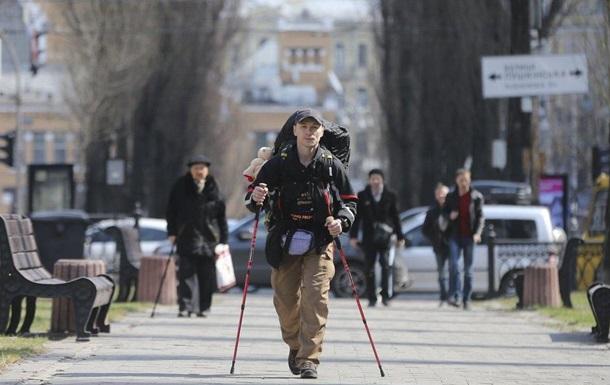 Украинец отправился пешком из Украины в Португалию