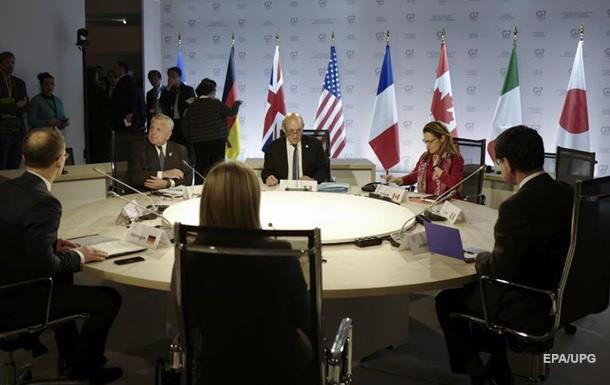 У G7 закликали Росію звільнити українських моряків