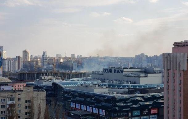 В Киеве произошел пожар на стройке