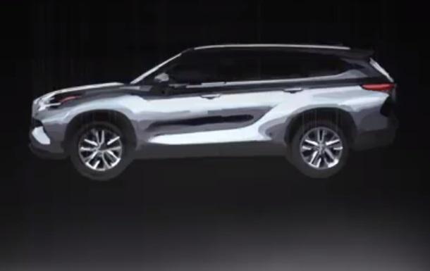 Toyota випустила тизер кросовера Highlander