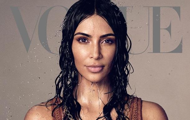 Ким Кардашьян впервые попала на обложку американского Vogue