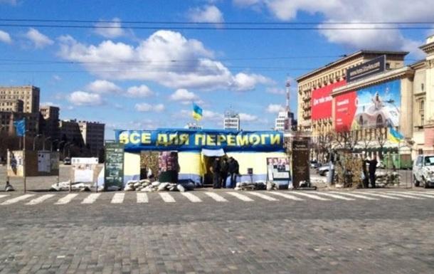 У центрі Харкова вибухнув волонтерський намет