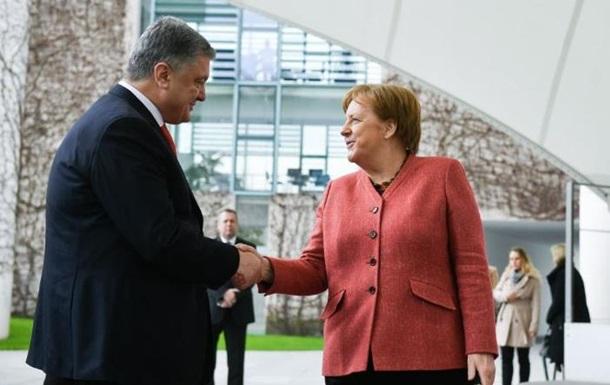 Порошенко и Меркель обсудили перемирие на Донбассе