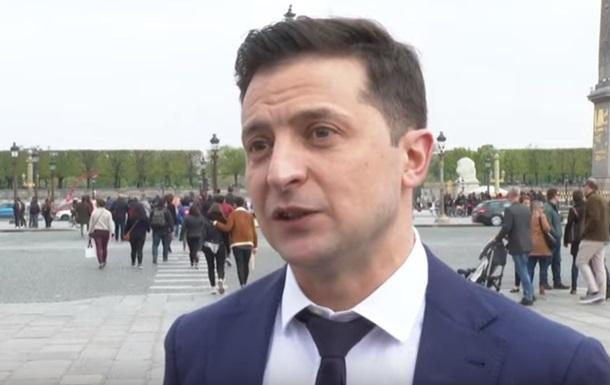 Зеленский: Говорил с Макроном о жизни и Донбассе